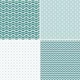 Seamless sea pattern, vector Stock Photo