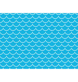 Seamless sea pattern White scales on blue Stock Images
