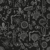 Seamless sea plankton pattern. In cartoon style Stock Photo