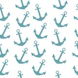 Seamless sea sailor pattern with anchor. Abstract repeat background, cartoon vector illustration can be used as textile printing, stock illustration