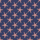 Seamless sea stars vector pattern. Background illustration. You can use web app and other Royalty Free Stock Photo