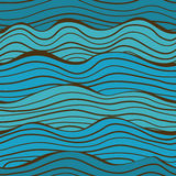 Seamless sea waves pattern Stock Photos