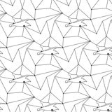 Seamless seagull pattern tile background geometric Stock Images