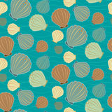 Seamless sealife vector pattern Royalty Free Stock Photography