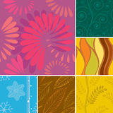 Seamless Season Pattern Royalty Free Stock Photos