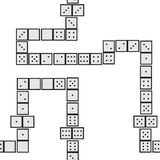 Seamless sequence of dominoes 02 Royalty Free Stock Photos