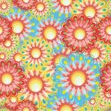 seamless serie för blomma Arkivbilder