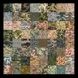 Seamless set of camouflage pattern vector. 64 Set of camouflage pattern Stock Photo