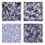 Seamless set of camouflage pattern vector stock illustration