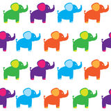 Seamless set of elephants Stock Photography