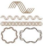 seamless set för dekorativa element royaltyfri illustrationer