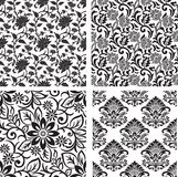 Seamless set of floral background Royalty Free Stock Photography
