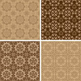 Seamless set four vintage backgrounds. Stock Image
