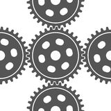 Seamless set of gears Stock Photo