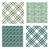 Seamless set geometric patterns set with motifs of Stock Images