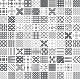100 seamless Set of monochrome. Geometric patterns Vector Illustration