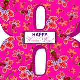 Seamless set multicolored flower pattern. Stock Photos