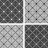 seamless settexturer för geometriska modeller stock illustrationer
