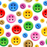 Seamless sewing buttons Royalty Free Stock Photo