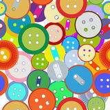 Seamless sewing buttons Stock Image