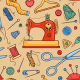 Seamless sewing pattern Royalty Free Stock Image