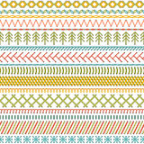 Seamless sewing pattern. Royalty Free Stock Image