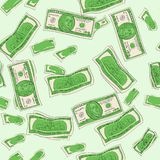 Seamless. Shades of green. One hundred dollars of banknotes, finance, bank. Paper money. Seamless vector. Shades of green. One hundred dollars of banknotes Royalty Free Stock Photography