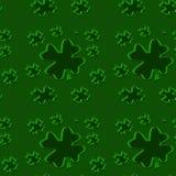 seamless shamrock 3 Royaltyfri Bild