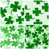 Seamless with shamrock Royalty Free Stock Image