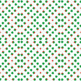 Seamless shamrock background pattern with red heart leaf, Saint Patrick's day Stock Photo