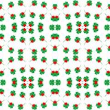 Seamless shamrock background pattern with red heart leaf, Saint Patrick's day Royalty Free Stock Photography