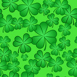Seamless Shamrock Pattern Royalty Free Stock Photos