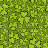 Seamless shamrock shapes Stock Photo