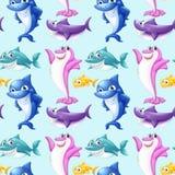 Seamless shark Stock Image