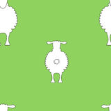 Seamless sheep background Royalty Free Stock Photography