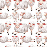 Seamless sheep with happy face Stock Photo