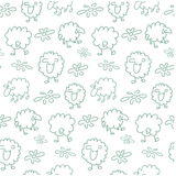 Seamless sheep pattern Royalty Free Stock Photo
