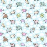 Seamless sheep pattern Stock Photography