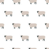 Seamless sheep pattern. Seamless pattern, sheep vector art  background design for fabric and decor Royalty Free Stock Photos