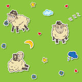 Seamless sheep pattern Royalty Free Stock Images