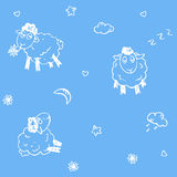 Seamless sheep pattern Royalty Free Stock Photography