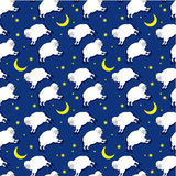 Seamless sheeps pattern Stock Photos