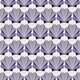 Seamless shells background Royalty Free Stock Photos