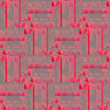 Seamless shifted stripes pattern pink red purple gray. Abstract geometric seamless modern background. Regular shifted pattern in pink, red and purple shades with Stock Images