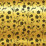 Seamless shining background with vintage floral Royalty Free Stock Images