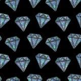Seamless Shining Holographic Stickers Pattern. Seamless Holographic Stickers Pattern. Diamonds on black Stock Photo