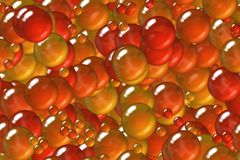 Seamless shining ruby spheres and bubbles plating wrapping pattern Stock Images