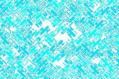 Seamless shining sea-green forms, dots and shapes tiling wallpaper Royalty Free Stock Photography