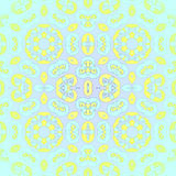 Seamless shiny ornament blue yellow green royalty free illustration