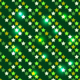 Seamless with shiny stars Stock Photography